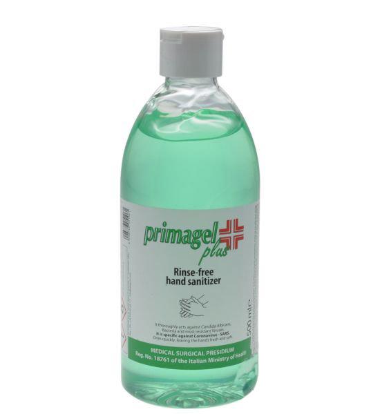 ALLEGRINI PRIMAGEL PLUS kézfertőtlenítő gél 500 ml sebészeti szintű