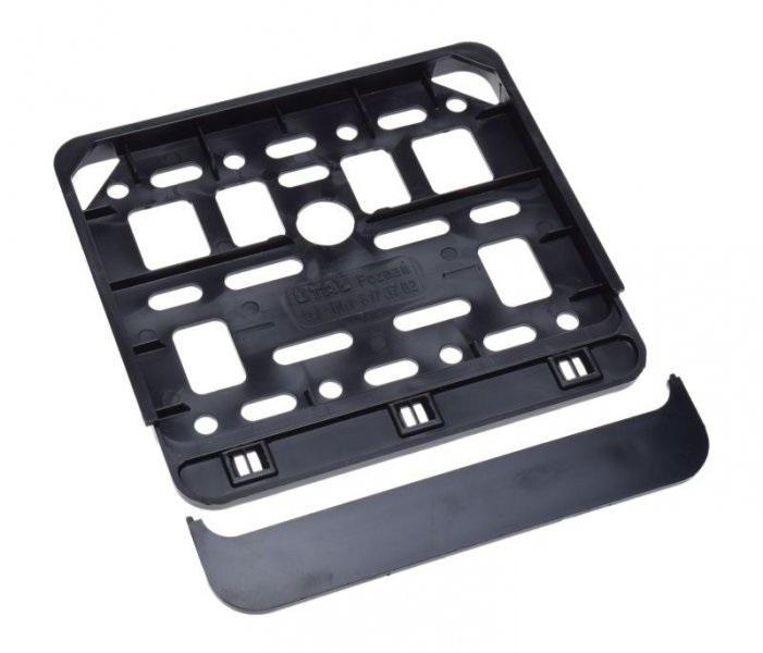 Rendszámtábla tartó fekete (148x148mm)