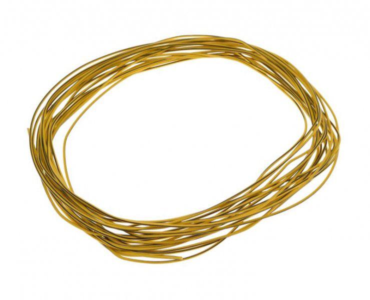 Kábel (0,5mm x 10m) SÁRGA-FEKETE