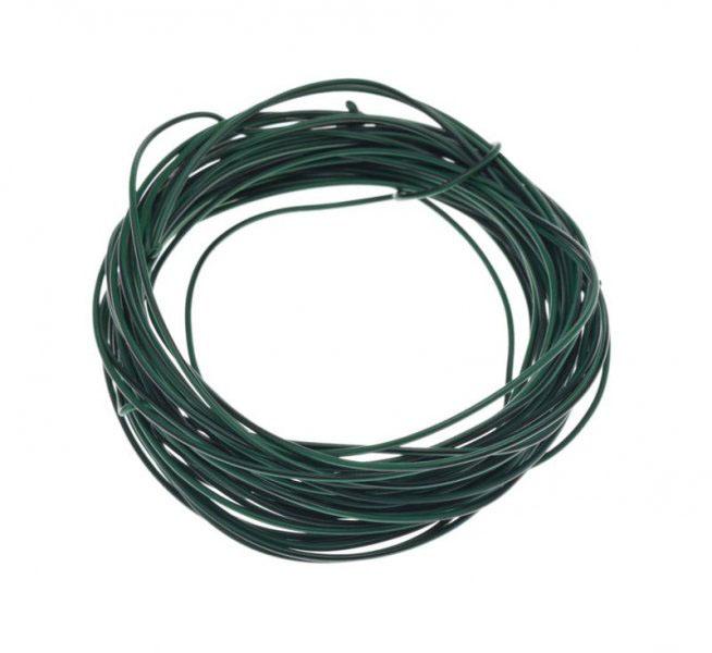 Kábel (0,5mm x 10m) ZÖLD-FEKETE