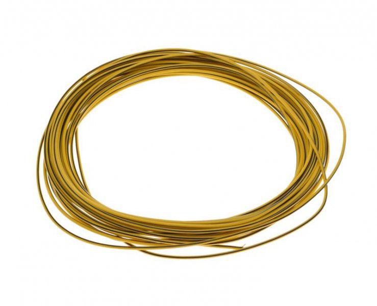 Kábel (0,75mm x 10m) SÁRGA-FEKETE