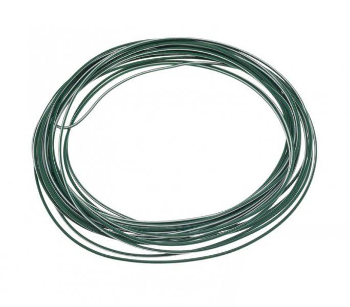 Kábel (0,75mm x 10m) ZÖLD-FEHÉR