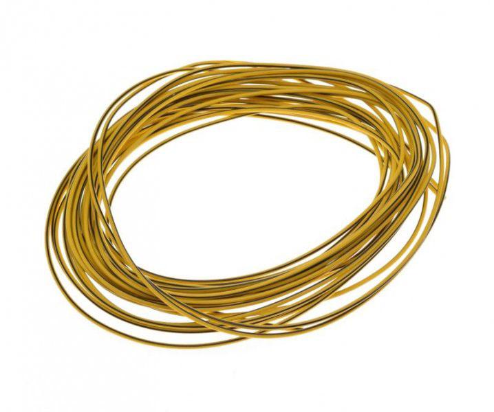 Kábel (1,00mm x 10m) SÁRGA-FEKETE