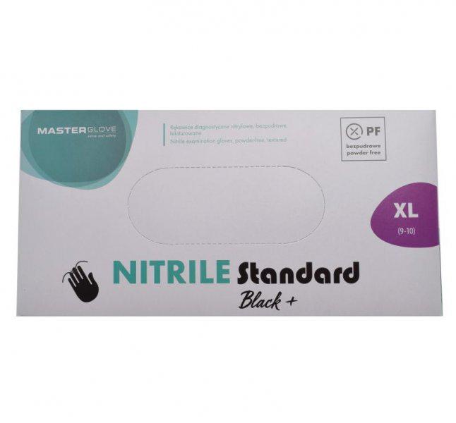 MasterGlove Nitrile Standard nitril kesztyű XL FEKETE 100db