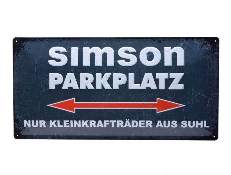 Tábla, SIMSON Parkplatz