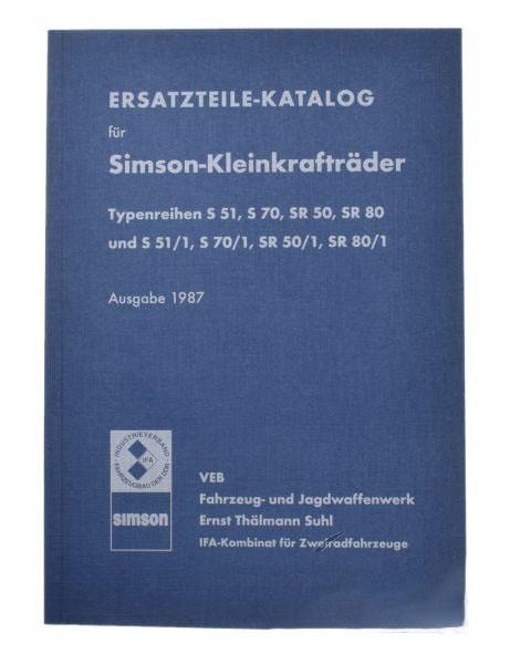 SIMSON SR50 SR80 S51 S70 katalógus 1987