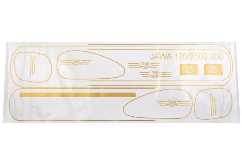 Dekor csík matricák, JAWA 175 250 350