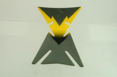 TANKPAD carbon mintás sárga