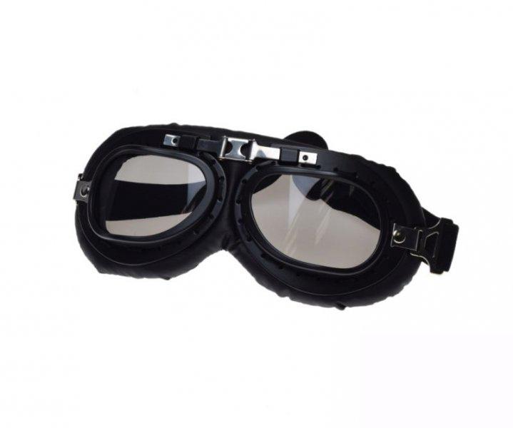 Motoros szemüveg, klasszikus T01 fekete matt