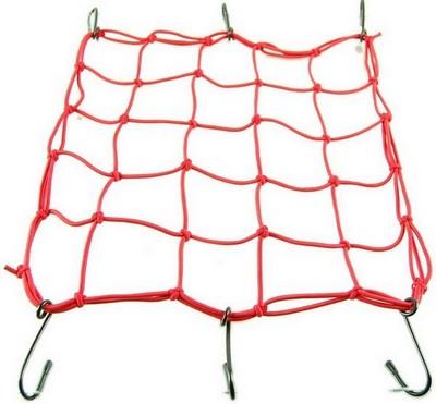 rögzítő háló sisak csomag beakasztós, piros