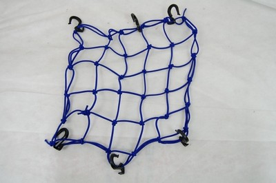 rögzítő háló sisak csomag beakasztós, kék, műanyag beakasztó