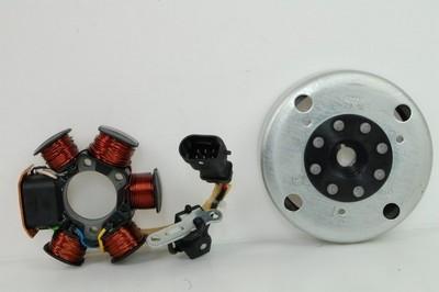 Generátor állórész 6 tekercs, 6 vezetékes, + generátor forgórész
