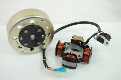 Generátor állórész 4 tekercs, 3 vezetékes, + generátor forgórész