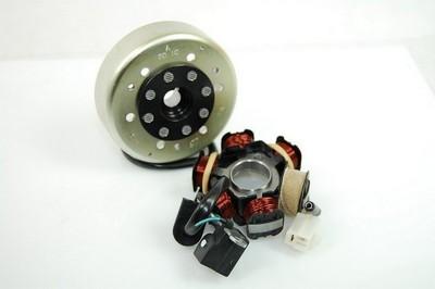 Generátor állórész 6 tekercs, 4 vezetékes, + generátor forgórész