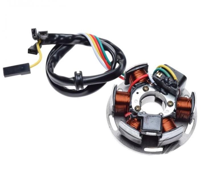 generátor állórész komplett 6 tekercs APRILIA AF1 50 RX50 TUAREG 50 89-91