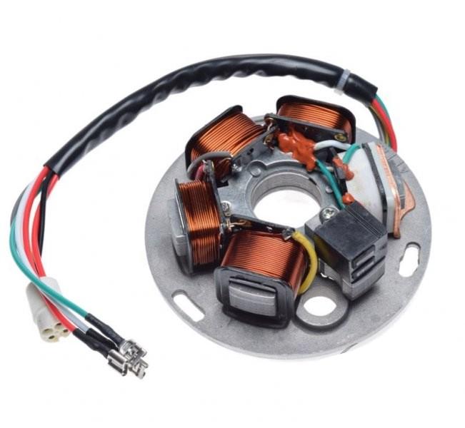 generátor állórész komplett 5 tekercs Vespa PX 125 150 200 Iris 81-97
