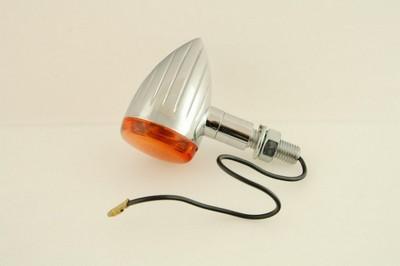 Index irányjelző lámpa króm csepp alakú, gravírozott, alu ház 1d