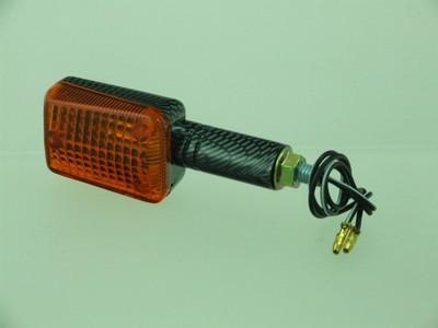 Index irányjelző lámpa MINI CARBON-LOOK, sárga, hosszú