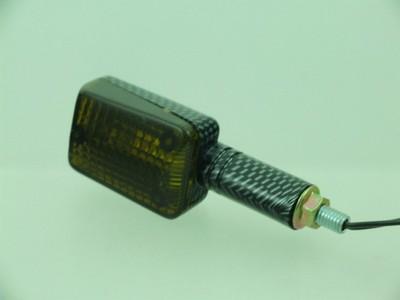 Index irányjelző lámpa MINI CARBON-LOOK, füst, hosszú