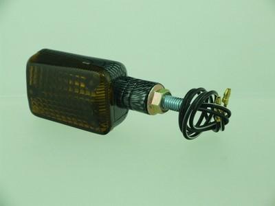 Index irányjelző lámpa MINI CARBON-LOOK, füst, rövid