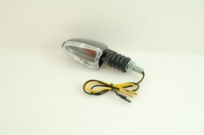 Index irányjelző lámpa, ovális, CARBON-LOOK, víztiszta búrás, ba