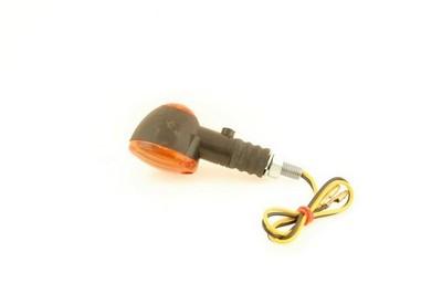Index irányjelző lámpa, ovális, sárga búrás, kicsi