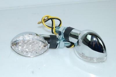Index irányjelző lámpa ovális króm LED