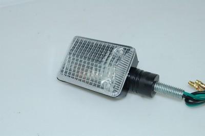Index irányjelző lámpa, MINI, fekete, víztiszta búrás, CN