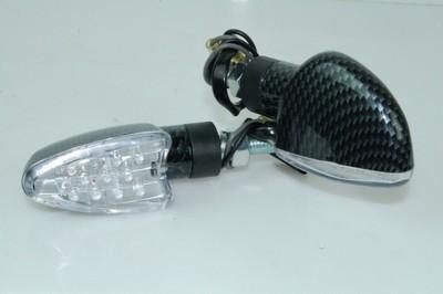 Index irányjelző lámpa, CARBON-LOOK, ovális, víztiszta búrás, LE