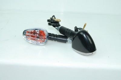 Index irányjelző lámpa, fekete, víztiszta búrás, izzó, 2db, CN