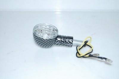 Index irányjelző lámpa víztiszta búrás, LED, CARBON-LOOK, bal