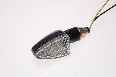 Index irányjelző lámpa víztiszta búrás, LED, CARBON-LOOK, jobb