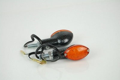 Index irányjelző lámpa CARBON-LOOK, sárga búrás, LED