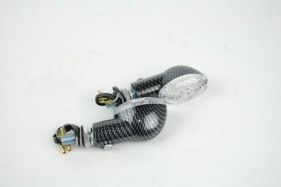 Index irányjelző lámpa CARBON-LOOK, víztiszta búrás, LED,