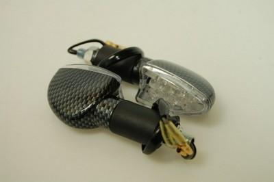 Index irányjelző lámpa CARBON-LOOK, víztiszta búrás, LED