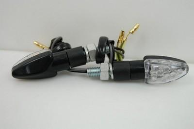 Index irányjelző lámpa MINI fekete víztiszta búrás, LED,