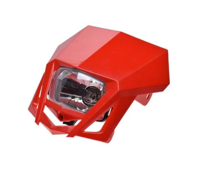 Első fényszóró, idommal piros