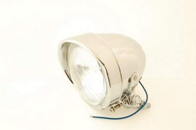 fényszóró első króm ház H4 siltes első 108 mm, EU szabványos