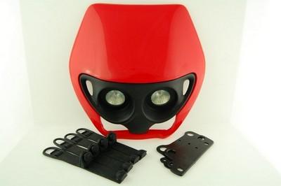 első fejidom fényszóróval, univerzális piros