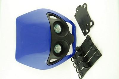 első fejidom fényszóróval, univerzális kék