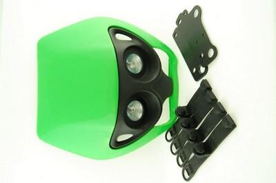 első fejidom fényszóróval, univerzális zöld