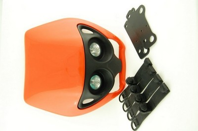 első fejidom fényszóróval, univerzális narancs