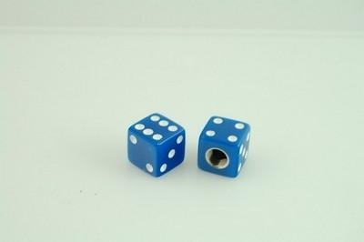 szelep sapka pár, dobókocka kék