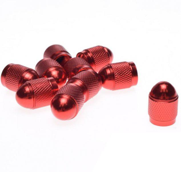 Szelep sapka, 10db piros fém