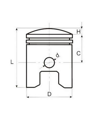 43.00/10/25.5 dugattyú szett 60cm3 2T QUANTUM