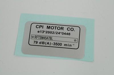 alvázszám matrica E13 CPI SM50