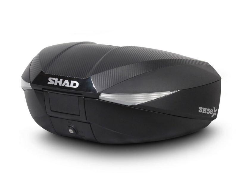 Hátsó doboz SHAD SH58X CARBON állítható űrtartalmú