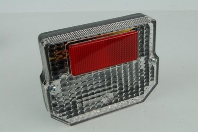 lámpa szett hátsó komplett MZ négyzetes, víztiszta búrás