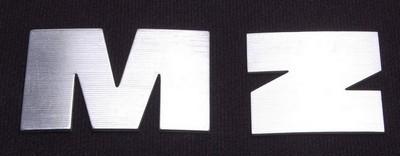 embléma MZ, üzemanyag tartály ezüst