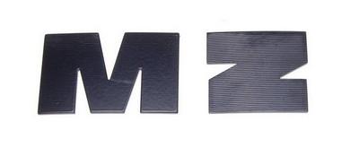 embléma MZ, üzemanyag tartály fekete